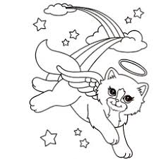 beautiful cat angel top 25 free printable lisa frank coloring pages online on lisa frank coloring pages free