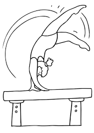 Small Picture Coloring Pages For Kids Gymnastics Sport Sport Coloring pages of