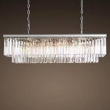 1920s odeon clear glass fringe chandelier