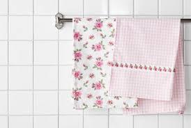 IKEA Kitchen Textiles ~ ❤ Pretty Kitchen Towels That Match My PINK Kitchen!!!!!!  ~ $5 Set Of 2