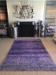 purple moroccan rug plain pile rug chunky wool monochrome lavender colour palette vintage berber carpet large size