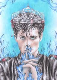 the crown from king s cage was really hard to draw but i m happy with the result also i really need to read this book