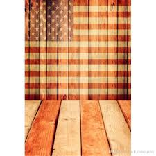 2019 wooden wall floor american flag backdrop for photography digital printed vinyl studio background baby newborn photo props wallpaper from