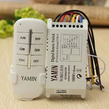 Wireless 4 Channels ON OFF 220V Lamp Remote Control Switch