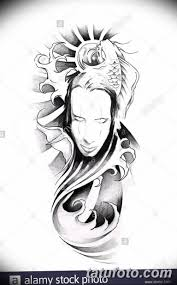 черный эскиз анимэ 09032019 015 Anime Tattoo Black Sketch