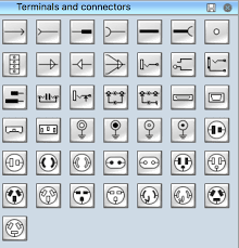 wiring diagram connector symbols wiring image electrical symbols terminals and connectors on wiring diagram connector symbols