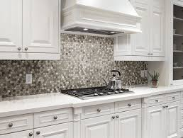 white kitchen tile floor ideas. Kitchen With A Honeycomb Mosaic Tile Backsplash In Variety Of Shades. White Kitchen Floor Ideas W