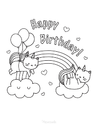 So we are also providing some printable birthday coloring pages. 55 Best Happy Birthday Coloring Pages Free Printable Pdfs