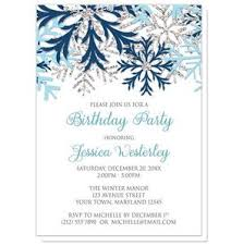 Snowflake Birthday Invitations Winter Blue Silver Snowflake Birthday Party Invitations