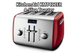 review on kitchenaid kmt422er 4 slice toaster with manual high lift lever and digital