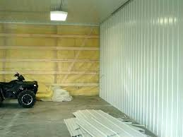 garage interior ideas cedar walls after metal wall coverings