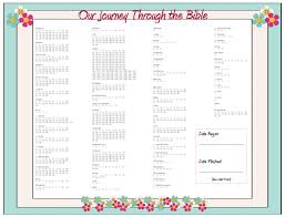 Free Bible Reading Chart Printable Our Journey Through The Bible Free Printable Family
