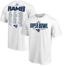 Blitz Bound Branded Liii T-shirt Angeles Fanatics Line Pro Roster White Bowl Los Men's Safety Rams Super By Nfl
