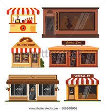coffee shop building clipart. Contemporary Clipart Vector Set Store Buildings Supermarket Clipart Cafe Building Png  Transparent On Coffee Shop Building Clipart U