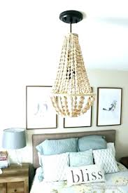 pottery barn wood bead chandelier wooden beaded this is simple to make arabella cha