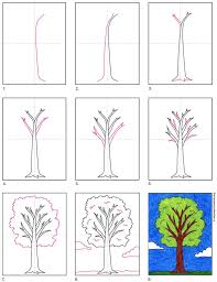 The oldest tree ever discovered is approximately 5 no wonder that artists of all skill levels are attracted to trees, trying to convey their charm and diversity. How To Draw A Tree Art Projects For Kids