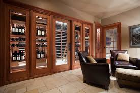 gallery picture of wine cellar glass door design
