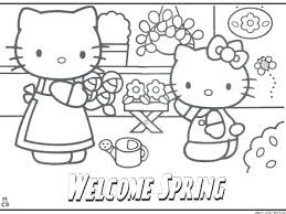Coloring Pages Printable Spring Colouring Season For Adults Welcome