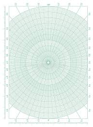 Polar Coordinate Circular Grid Graph Paper Stock Vector