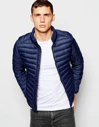 Lightweight Quilted Jacket Men | Jackets Review & Pull&bear Lightweight Padded Jacket in Blue for Men | Lyst Adamdwight.com