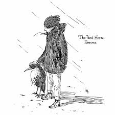 鳥人間その10 ムナジロサギのヒーローハートヘッドイラストnote