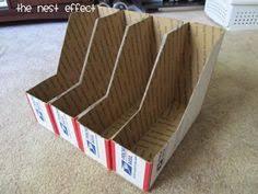 Cardboard Magazine File Holders OrganizedHome Day 100 DIY Magazine File Magazine files 33