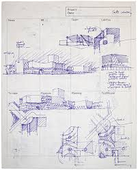 architectural hand drawings. Rijk Rietveld Architectural Hand Drawings