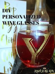 diy personalized wine glasses