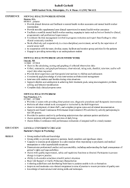 Mental Health Professional Resume Sample Mental Health Worker Resume Samples Velvet Jobs 11