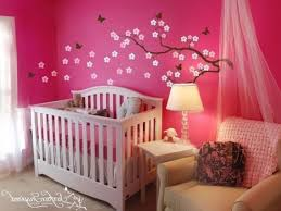 pink nursery furniture. Baby Nursery. Endearing White Wooden Crib And Shade Nursery Floor Stand Lamps Pink Furniture
