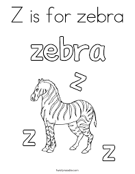 Small Picture Z is for zebra Coloring Page Twisty Noodle