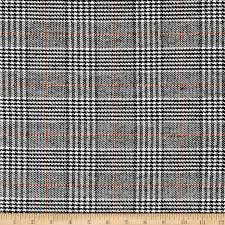 zoom wool blend houndstooth plaid black white