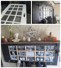 turn an old wood door into a picture frame mantel great idea