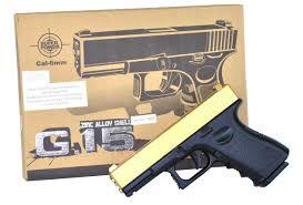 Super Bb Gun With Laser And Torch Light Galaxy G15 Full Metal Bbgun Replica Of A Glock 23 Pistol Gadget Land