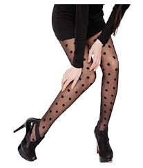 Cheap Tights With Designs Chooz Designer Studio Womens Dotted Pantyhose Stockings