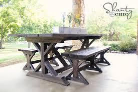 diy outdoor farmhouse table. Diy X Farmhouse Table Lovely Outdoor Bench Plans ,
