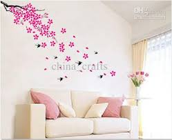 decorative wall sticker whole removable swallow and flowers wall stickers living room images