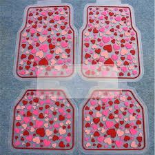 car floor mats for women. Decorative Rubber Mats Car Floor Women Hearts Universal Carpet Interior Sets Red For O