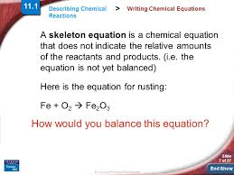 7 writing chemical equations
