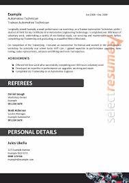 Automotive Engineer Resumes Automotive Technician Design 105 Select Resumes
