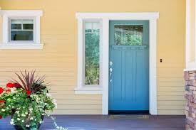 front doors nz. Brilliant Doors The Buttery Yellow Of This Homeu0027s Painted Exterior Is The Perfect Companion  For Blue With Front Doors Nz D