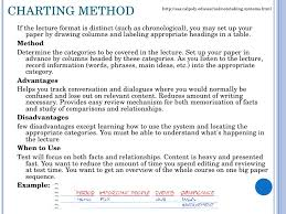 Methods Of Charting Note Taking Taking Notes Is Important For Two Main Reasons