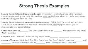 example of a compare contrast essay comparison contrast essay examples point thesis example compare and