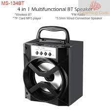 Loa Bluetooth Không Dây Ms-134Bt Cổng Usb & 3.5mm Hỗ Trợ Thẻ Nhớ Tf - Loa