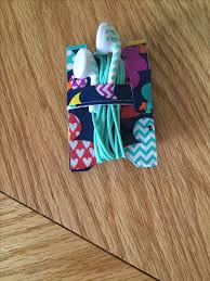 I made an Earbud holder completely made out of Duct tape.   Duct tape    Pinterest   Duct tape, Duck tape and Duct tape crafts