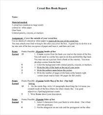book report essay examplebook report sample book report sample cereal box book report 8 documents in pdf word