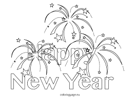 Small Picture Happy New Year Coloring Pages PIcture Archives gobel coloring page