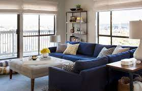 blue couch living room