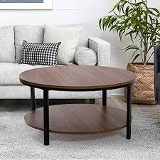 2 tier thicken wooden coffee table