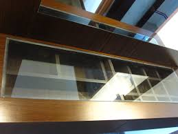 See Through Glass Dresser Table With See Through Glass To Drawers With Shelving